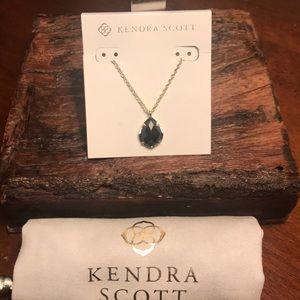NWT Kendra Scott Kiri Gold Necklace in Black!!